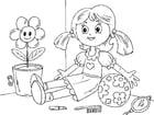 Dibujo para colorear muñeca