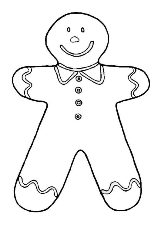 Dibujo para colorear Muñeco de galleta - Img 8667