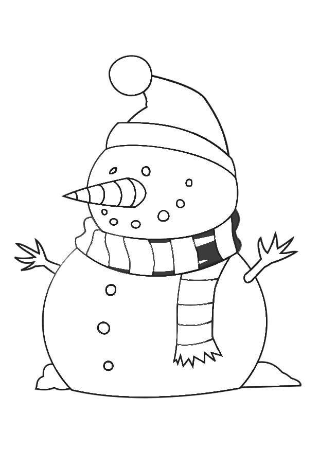 Dibujo Para Colorear Mu 241 Eco De Nieve Img 29538
