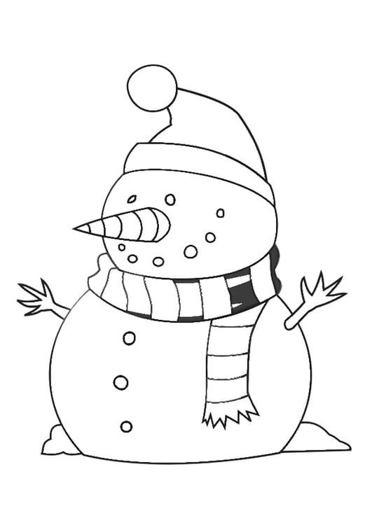 Dibujo para colorear mu eco de nieve img 29538 - Munecos de nieve para dibujar ...