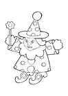 Dibujo para colorear Muñeco - mago