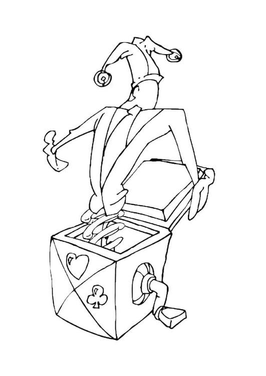 Dibujo Para Colorear Muñeco Saliendo De La Caja Img 10602