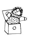 Dibujo para colorear Muñeco saliendo de la caja