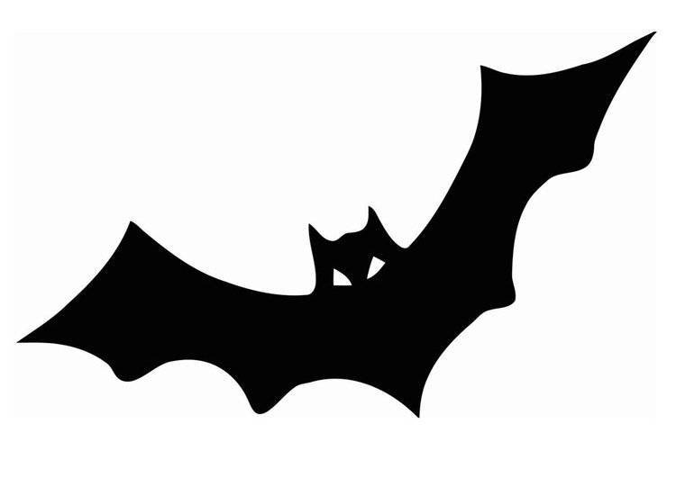 Dibujo para colorear murciélago - Img 20713