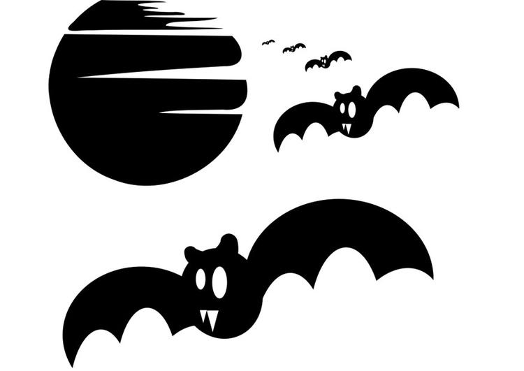 Dibujo para colorear murciélagos - Img 22973