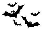 Dibujo para colorear murciélagos