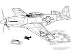 Dibujo para colorear Mustang P-51
