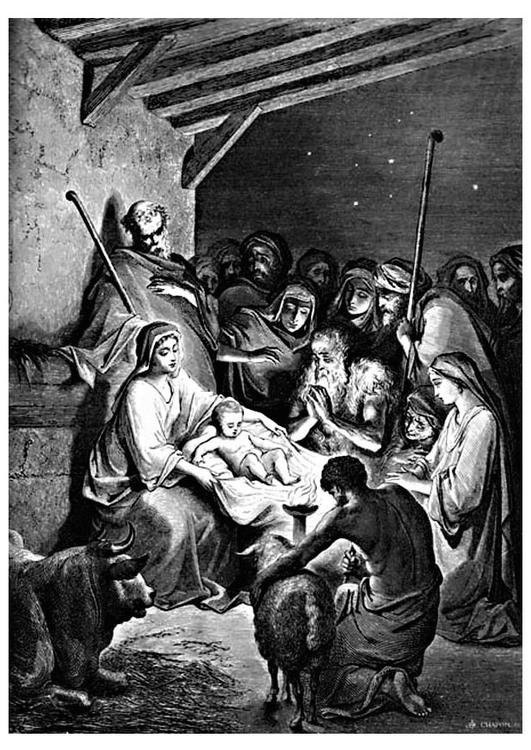Dibujo Para Colorear Nacimiento De Jesús Dibujos Para