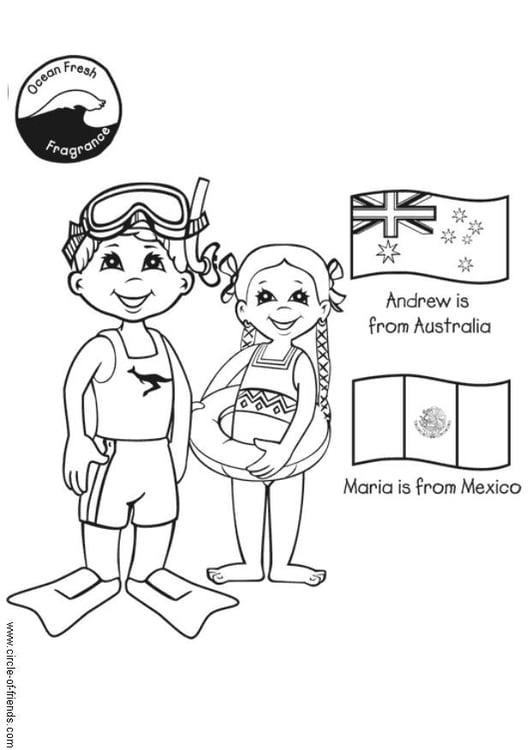 Dibujo para colorear Nadar - Img 5647