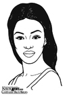 Dibujo para colorear Naomi Campbell