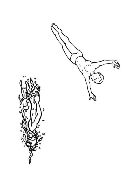 Dibujo para colorear Natación - Img 26094