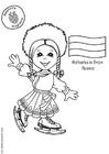 Dibujo para colorear Natasha de Rusia