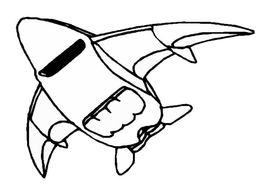 Dibujo para colorear nave espacial img 8861 - Dessin vaisseau spatial ...