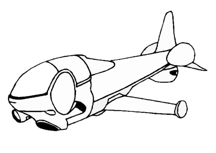 Nave Espacial Dibujo. ilustración de nave espacial dibujos animados ...