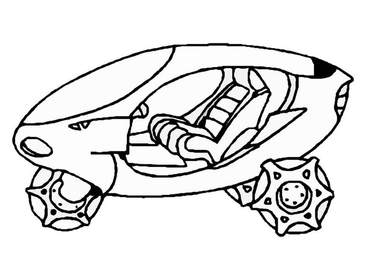 Dibujo para colorear Nave espacial - Img 8857