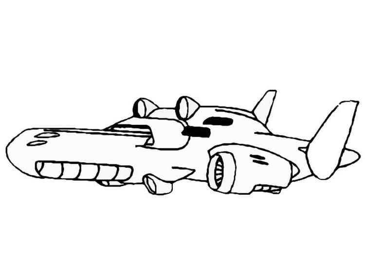 Dibujo Para Colorear Nave Espacial Img 8862
