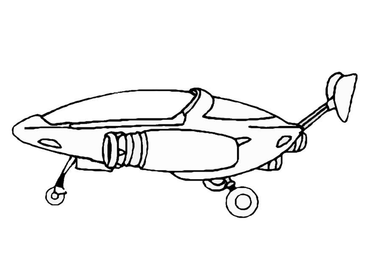 Dibujo para colorear Nave espacial - Img 8864