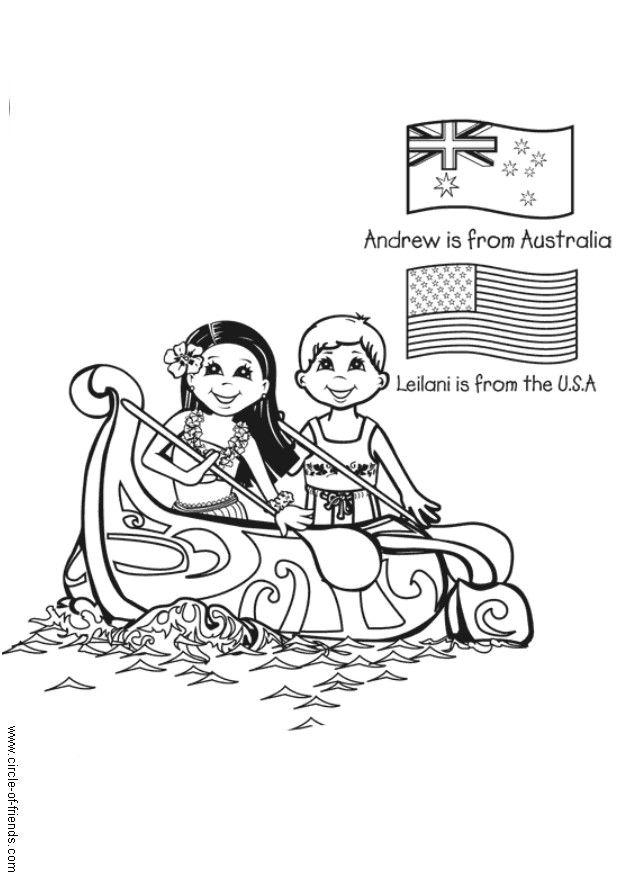 Dibujo para colorear Navergar con canoa - Img 5650