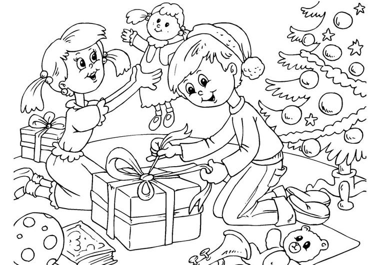 Dibujo para colorear Navidad - Img 23058