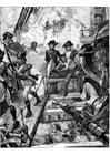 Dibujo para colorear Nelson en Trafalgar