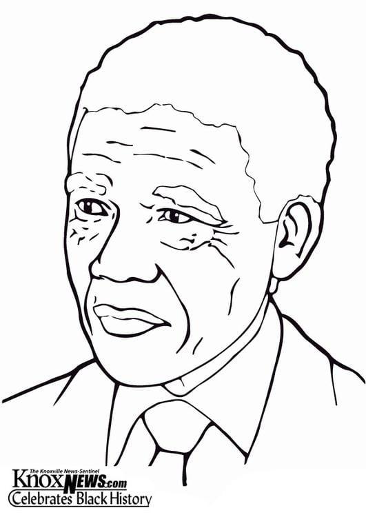 Dibujo para colorear Nelson Mandela - Img 13334