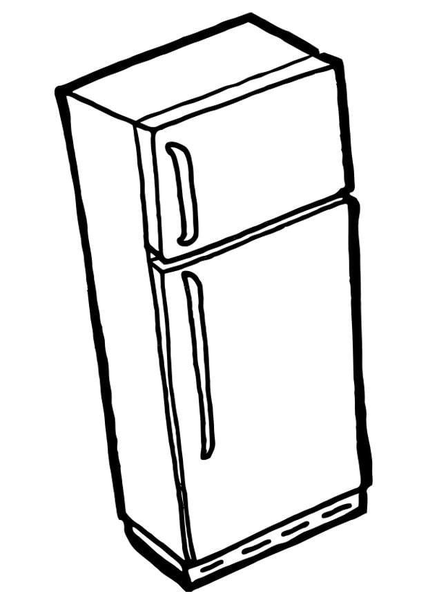 Dibujo Para Colorear Nevera Con Congelador Dibujos Para