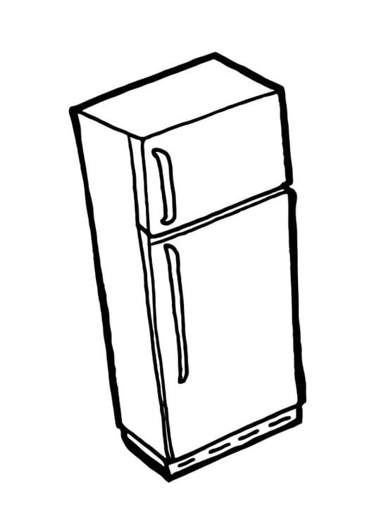 Dibujo para colorear nevera con congelador img 19040 for Neveras pequenas con congelador