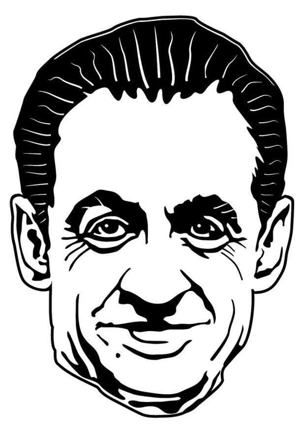 Dibujo Para Colorear Nicolas Sarkozy Img 24750 Images