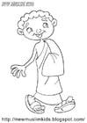 Dibujo para colorear niño musulmán