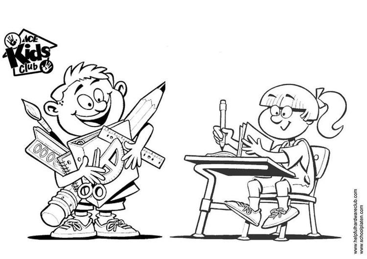 Dibujo para colorear Niño y niña - Img 3331