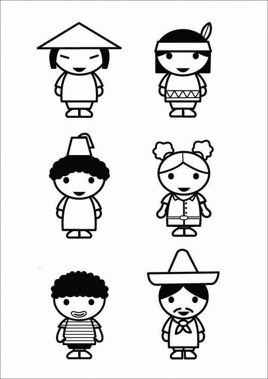Dibujo para colorear niños - culturas - Img 26424