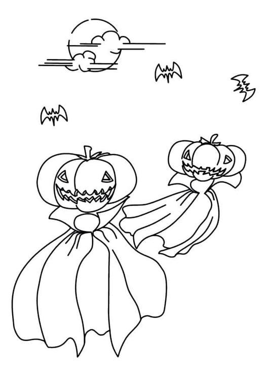 Dibujo para colorear Noche de halloween - Img 8625