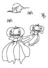 Dibujo para colorear Noche de halloween