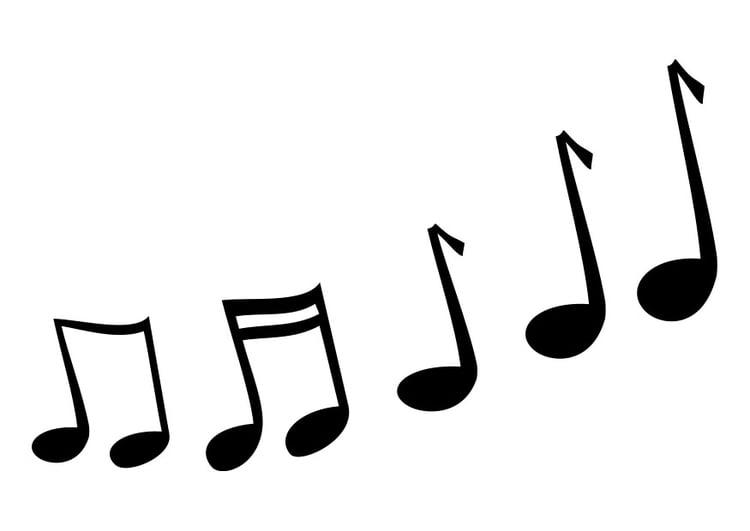 Dibujo para colorear notas musicales  Img 25733
