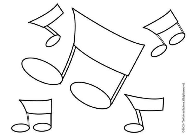 Dibujo Para Colorear Notas Musicales Img 5953