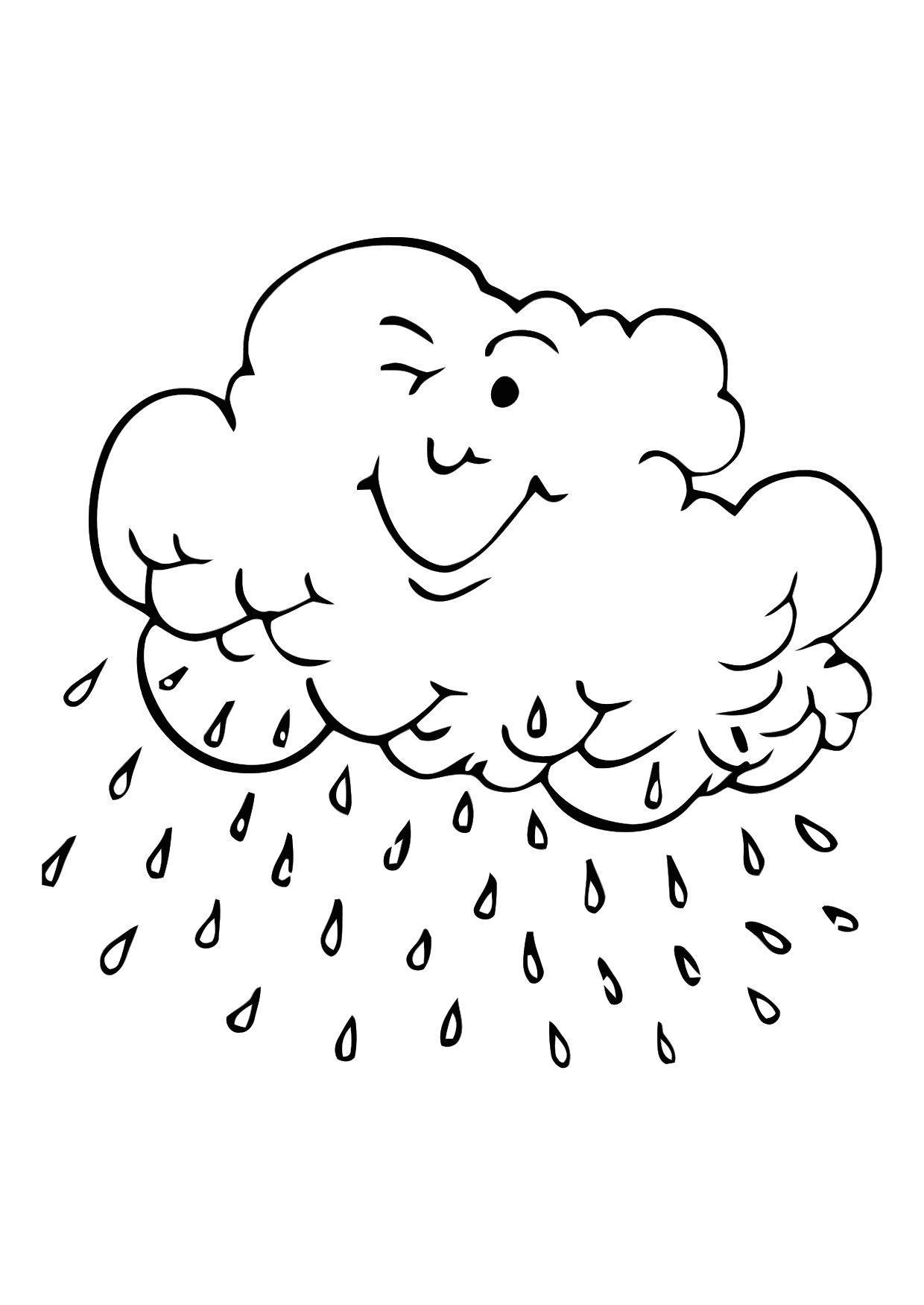 Dibujo para colorear Nube de lluvia - Img 11401