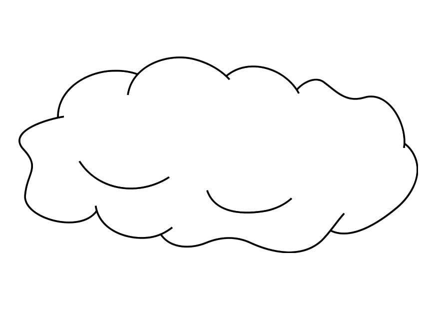 Dibujo Para Colorear Nube Dibujos Para Imprimir Gratis