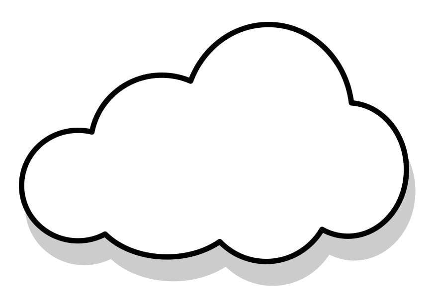 Dibujo para colorear nube   Img 22857