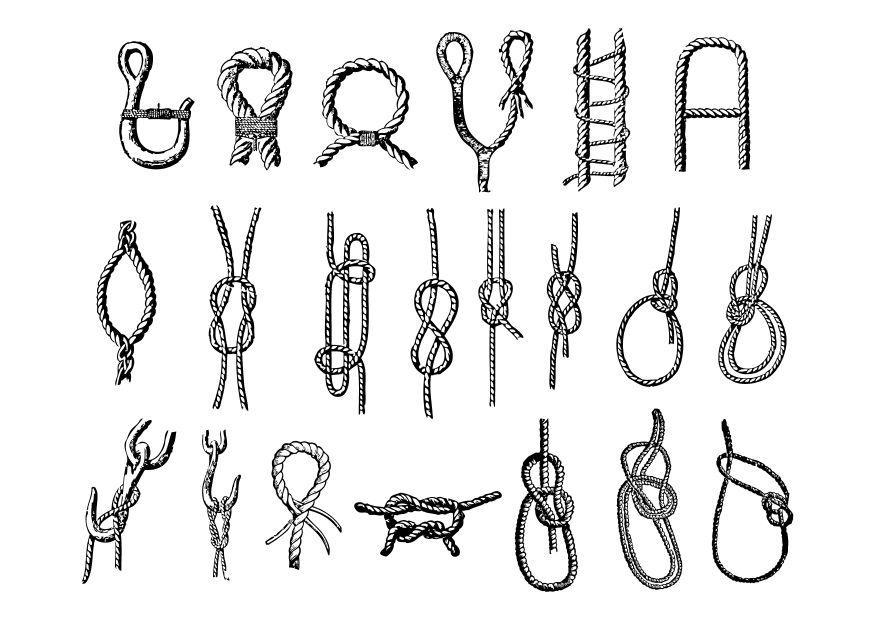 Dibujo para colorear nudos img 10555 - Nudos marineros para pulseras ...