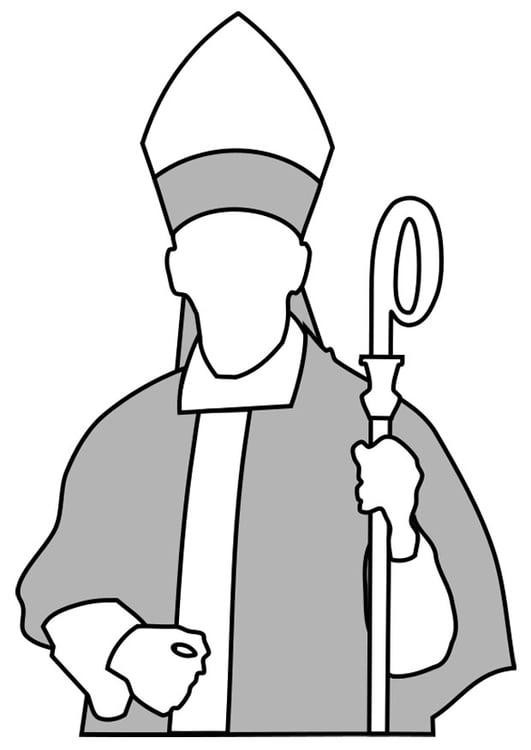 Dibujo para colorear obispo