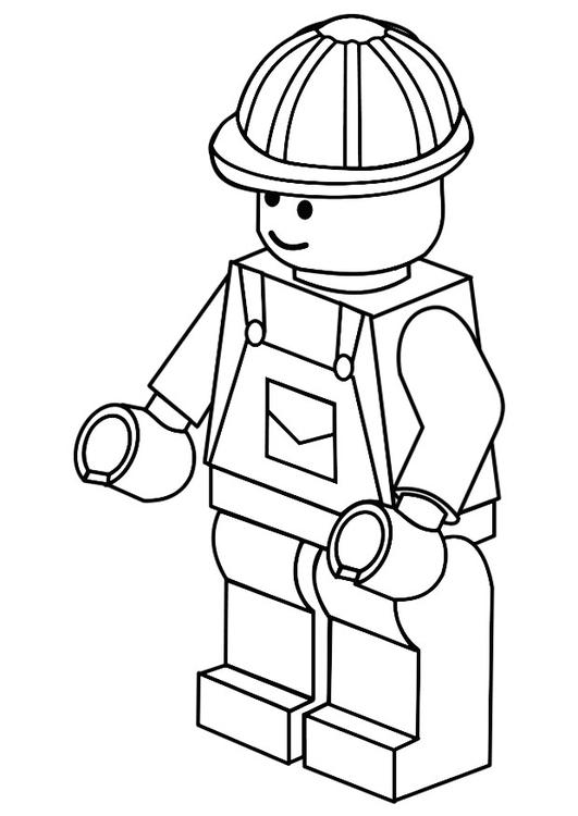 Dibujo para colorear obrero - Img 20153