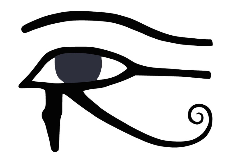 Dibujo para colorear Ojo de Horus - Img 9848