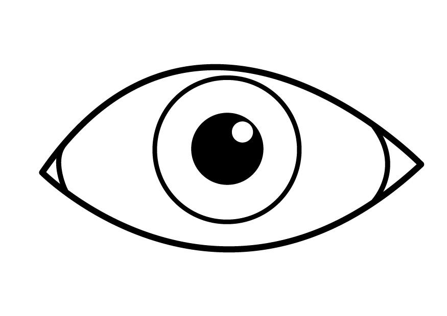Dibujo para colorear ojo img 26921 for Eyeball coloring pages