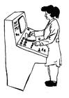 Dibujo para colorear Operador de máquinas