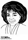 Dibujo para colorear Oprah Winfrey