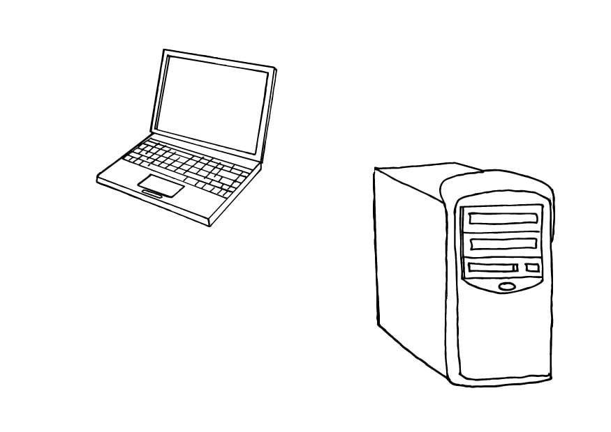 Dibujo para colorear Ordenadores - Img 10426