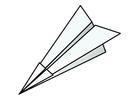 Dibujo para colorear origami - avión