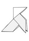 Dibujo para colorear origami - pájaro