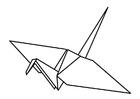 Dibujo para colorear origami