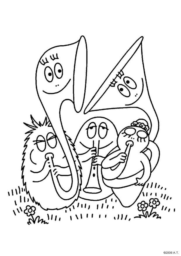Dibujo Para Colorear Orquesta Img 9632